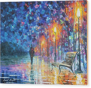 Abandoned By Winter Wood Print by Leonid Afremov