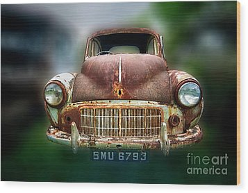 Wood Print featuring the photograph Abandoned Car by Charuhas Images