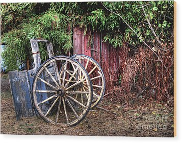 Wood Print featuring the photograph Abandoned Cart by Jim and Emily Bush