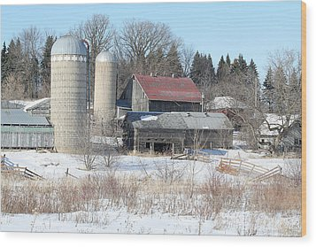 Abandoned Farm In Central Minnesota Wood Print by Laurie With