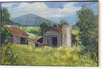 Abandoned Farm   Sold Wood Print