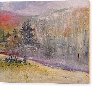 Abandoned Ford   Wood Print