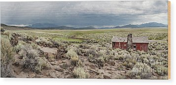 Abandoned Homestead Wood Print by Melany Sarafis