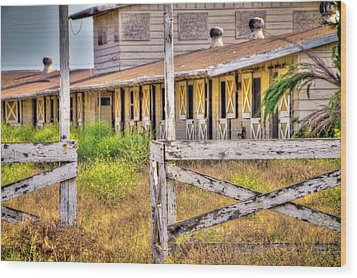 Abandoned Horse Stables Wood Print