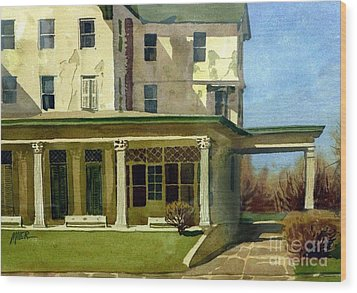 Abandoned Hotel Wood Print by Donald Maier