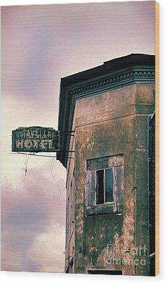 Abandoned Hotel Wood Print by Jill Battaglia