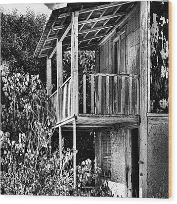 Abandoned, Kalamaki, Zakynthos Wood Print by John Edwards