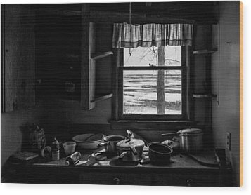 Abandoned Kitchen Wood Print