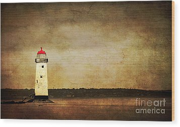 Abandoned Lighthouse Wood Print by Meirion Matthias