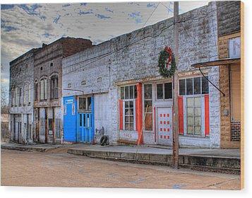 Abandoned Main Street Wood Print by Douglas Barnett