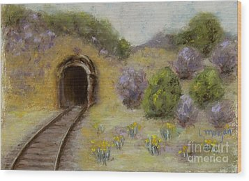 Abandoned Mine Wood Print by Laurie Morgan