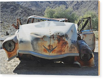 Wood Print featuring the photograph Abandoned Mojave Auto by Kyle Hanson