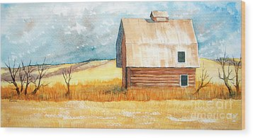 Abandoned Wood Print by Rebecca Davis