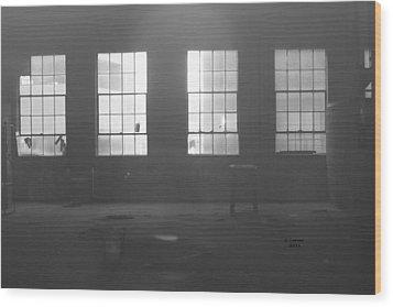 Abandoned Warehouse Wood Print by Carol Turner