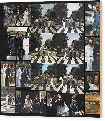 Abbey Road Photo Shoot Wood Print by Paul Van Scott
