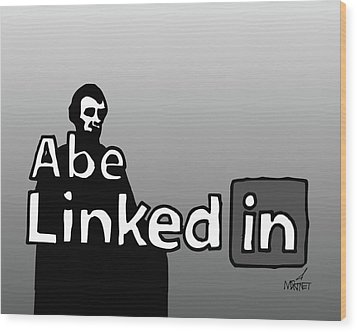 Abe Linkedin Wood Print