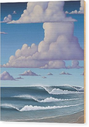 Abeautiful Day At The Beach Wood Print by Tim Foley