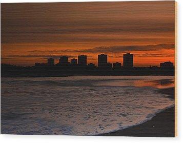 Aberdeen By Sunset Wood Print