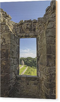 Wood Print featuring the photograph Aberdour Castle by Jeremy Lavender Photography