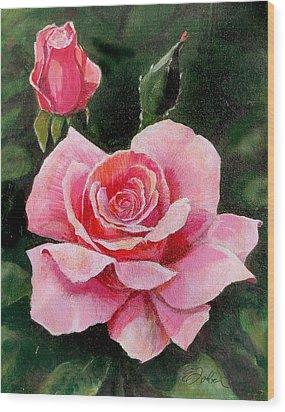 Abigail Rose Wood Print by Edward Farber
