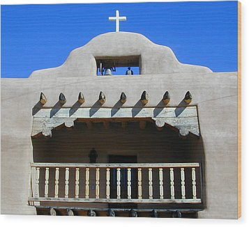 Abiquiu Church Number 2 Wood Print by Joseph R Luciano