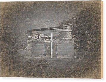 Abiquiu Nm Church Ruin Wood Print
