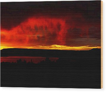 Wood Print featuring the painting Abiquiu Reservoir  by Dennis Ciscel