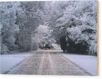 Abney Park Entrance Wood Print by Helga Novelli