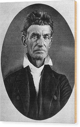 Abolitionist John Brown Wood Print by Everett