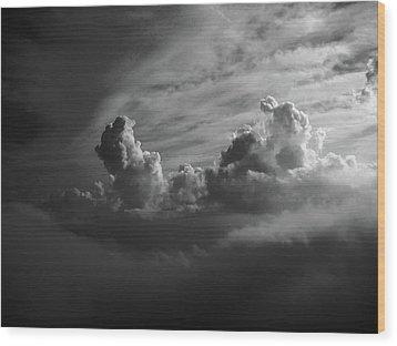 Above Earth 4 Wood Print by Cedric Hampton
