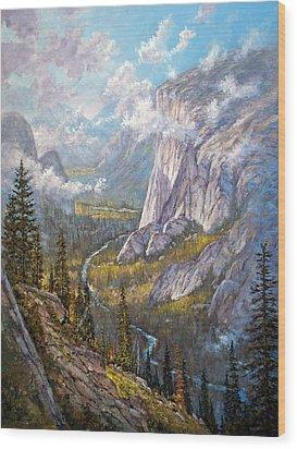 Above El Capitan Wood Print by Donald Neff