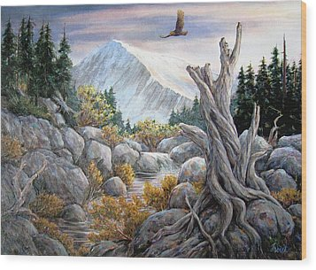 Above It All Wood Print by Don Trout