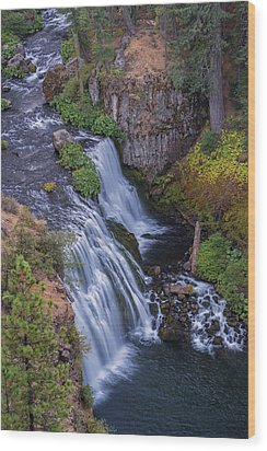 Above Middle Falls Wood Print