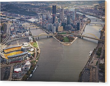 Above Pittsburgh In  Color  Wood Print