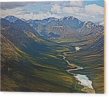 Wood Print featuring the painting Above The Arctic Circle by John Haldane