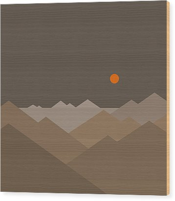 Wood Print featuring the digital art Above by Val Arie