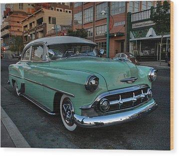 Abq - '53 Chevy Wood Print by Lance Vaughn