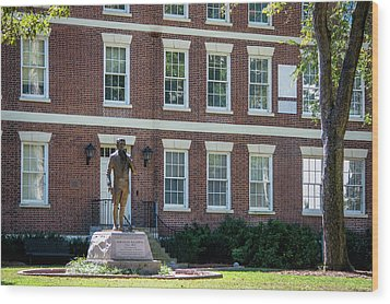 Wood Print featuring the photograph Abraham Baldwin Statue At Uga by Parker Cunningham