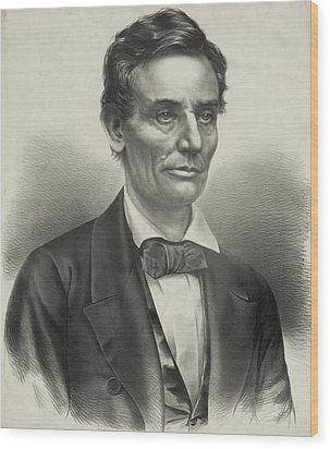 Wood Print featuring the photograph Abraham Lincoln - As A Presidential Candidate by International  Images