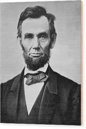 Abraham Lincoln -  Portrait Wood Print