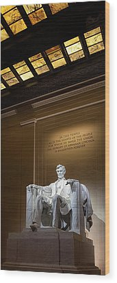 Abraham Lincoln Wood Print by Andrew Soundarajan