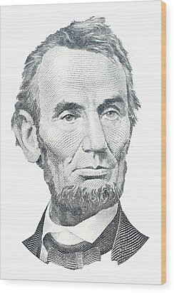 Abraham Lincoln Wood Print by David Houston