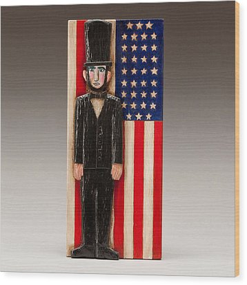Abraham Lincoln Wood Print by James Neill