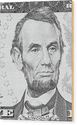Wood Print featuring the photograph Abraham Lincoln by Les Cunliffe