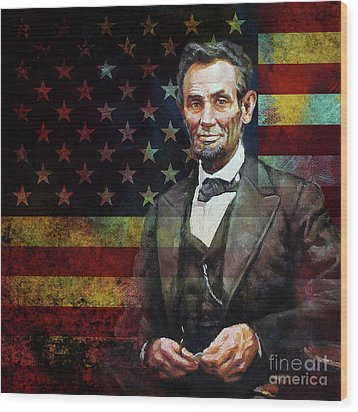 Abraham Lincoln The President  Wood Print by Gull G