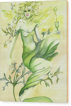 Absinthe-the Green Fairy Wood Print