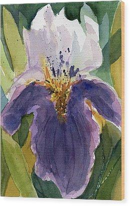 Absract Iris Wood Print