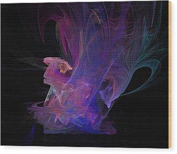 Abstact Pink Swan Wood Print