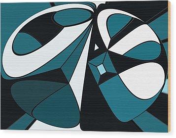 Abstrac7-30-09-a Wood Print by David Lane