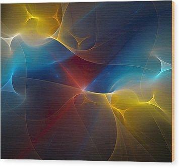 Abstract 060410 Wood Print by David Lane